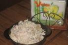 Салат грибной с ветчиной