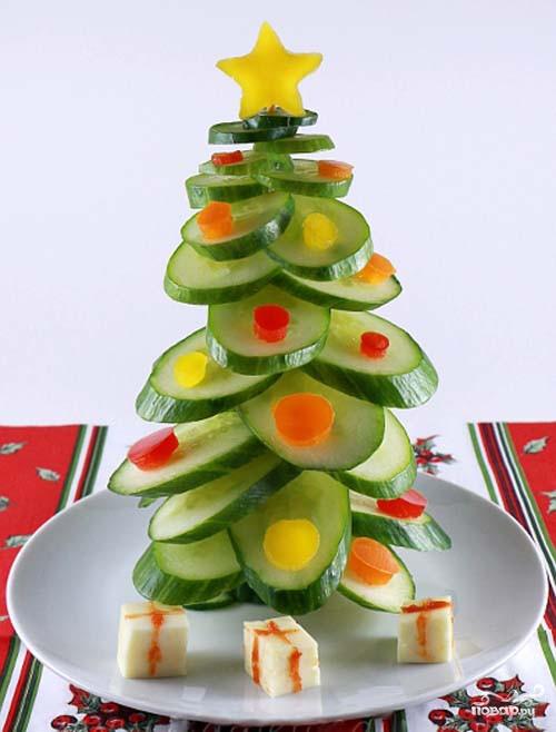 Легкая новогодняя закуска из овощей