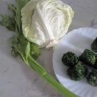 Рецепт Крем-суп из шпината с сельдереем и капустой