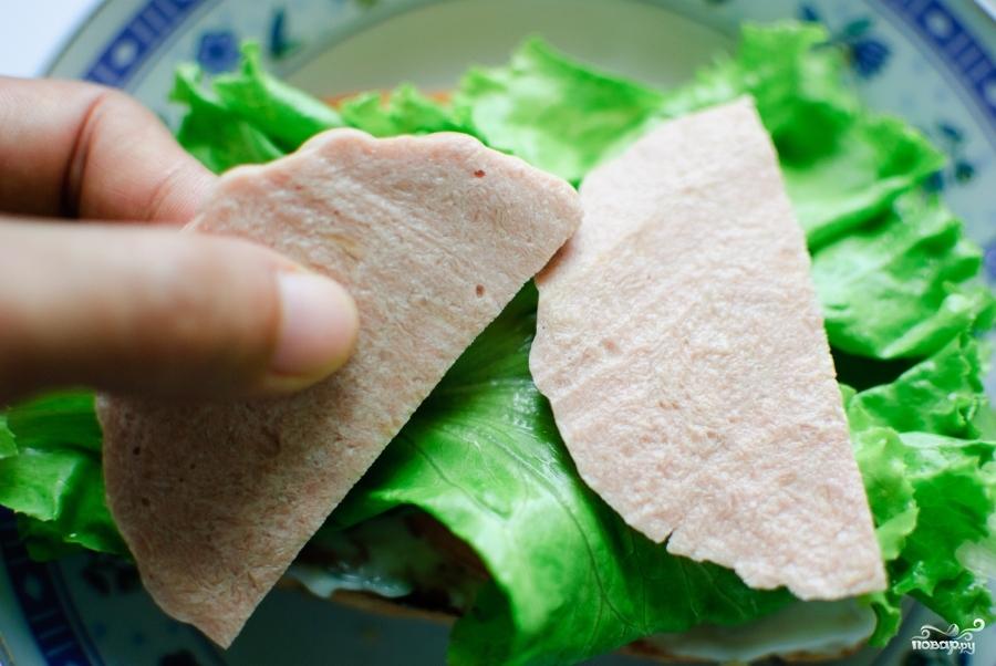 Сэндвич с колбасой - фото шаг 5