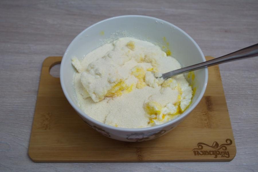 Запеканка из творога в духовке - фото шаг 2
