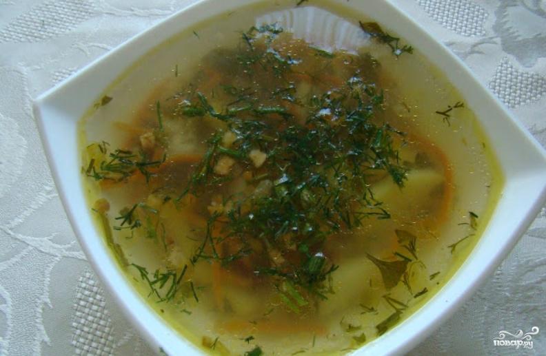 суп с картофельный с яйцом рецепт