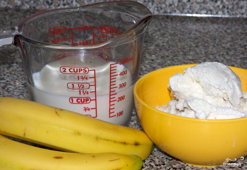 Молочный коктейль в блендере - фото шаг 1
