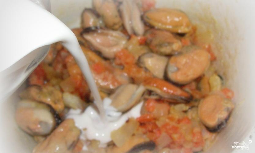 Мидии под сливочным соусом - фото шаг 7