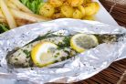 Рыба зубатка в фольге