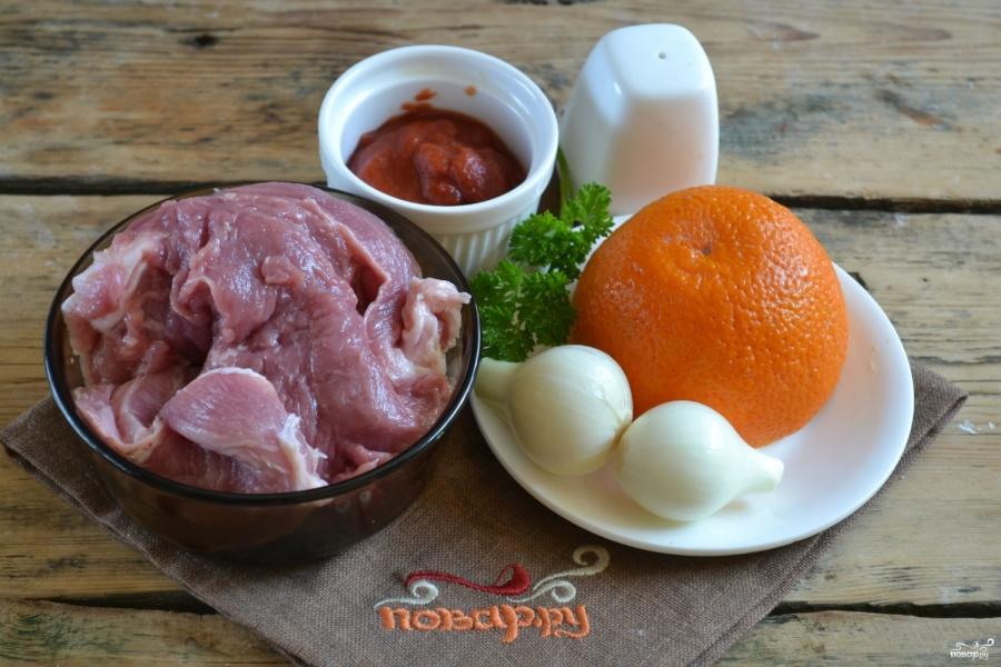 Свинина под сладким соусом - фото шаг 1