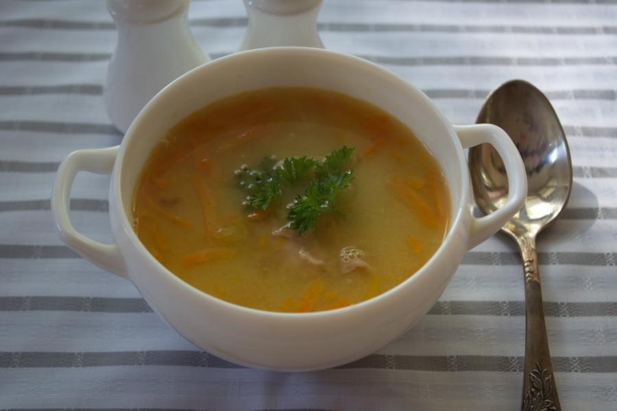 Гороховый суп с копченым окороком - фото шаг 8