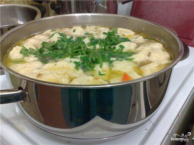 Рецепт Суп с галушками