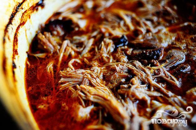 Сэндвичи со свининой и капустой - фото шаг 1