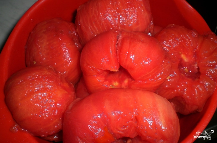 Огурцы в томатной заливке - фото шаг 1