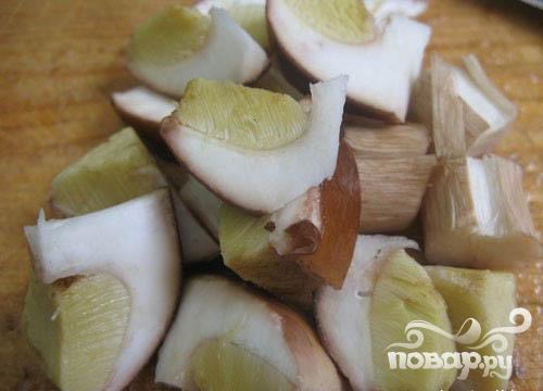 Курица, запеченная с грибами и тыквой - фото шаг 4
