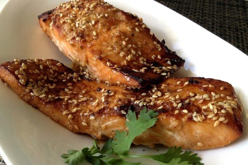 Рецепт Красная рыба в кунжуте
