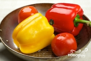 Салат из запеченных перцев - фото шаг 1