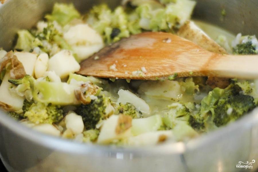Сырный суп-пюре с брокколи - фото шаг 7