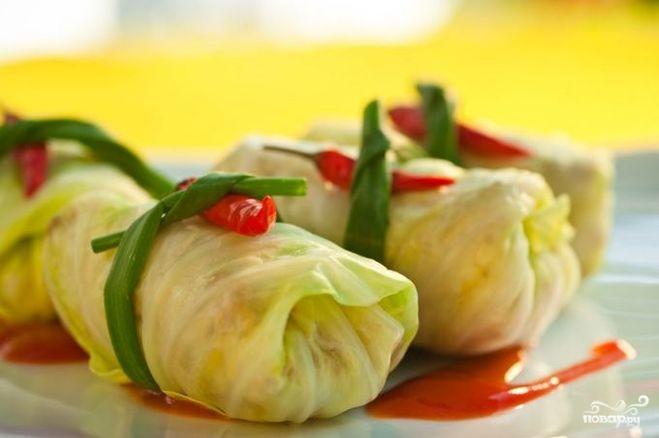 Рецепт Голубцы, фаршированные овощами