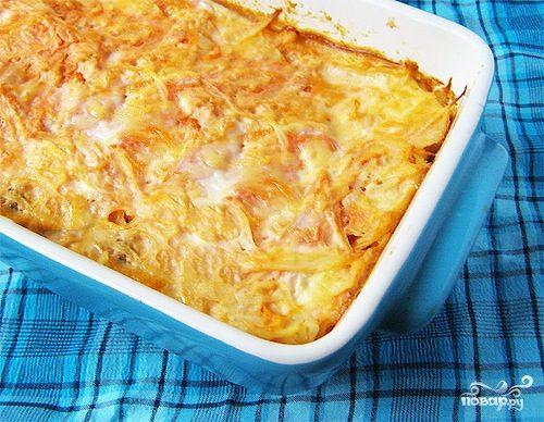 Рецепт Капустная запеканка с яйцом