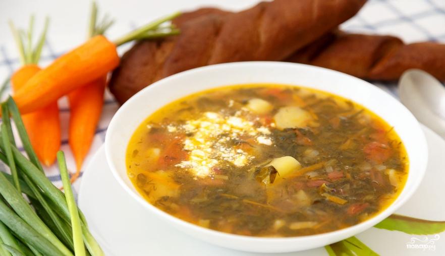Суп с щавелем и фасолью рецепт