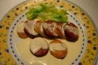 Картофельные ломтики под соусом
