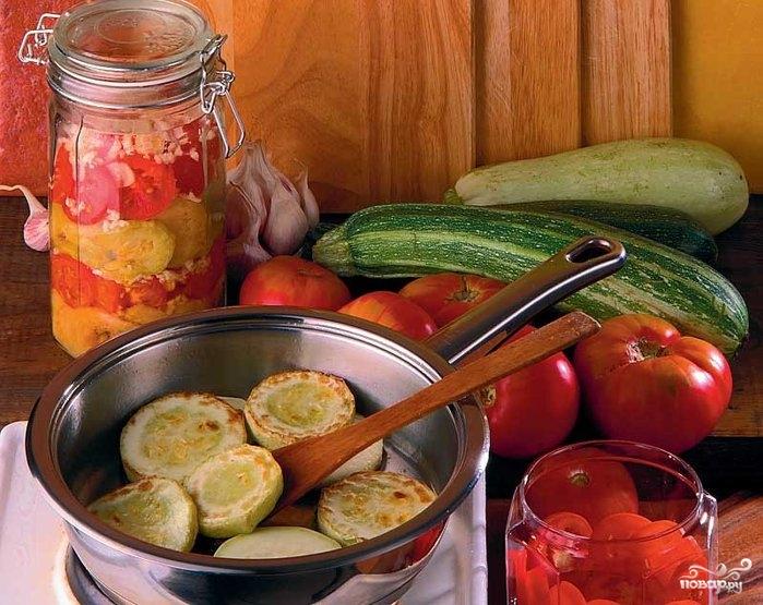 Рецепт Жареные кабачки с чесноком