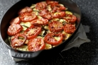 Кабачки жареные с помидорами