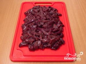 Рецепт Печень по-строгановски с грибами