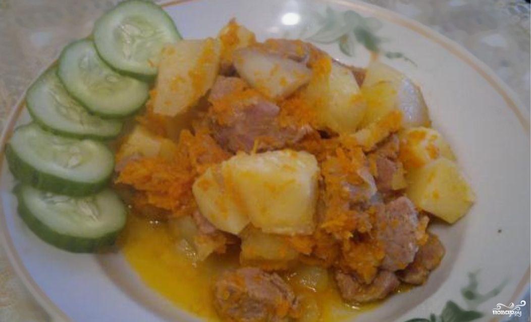 Картошка тушеная с мясом в утятнице