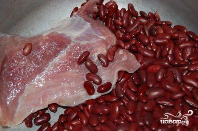Фасолевый суп в скороварке - фото шаг 1
