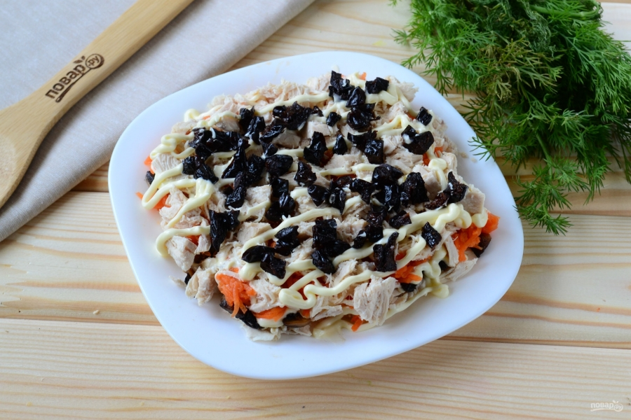 Салаты рецепты с черносливом