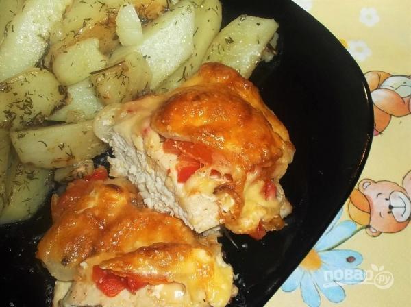 курица под овощной шубой в духовке рецепт