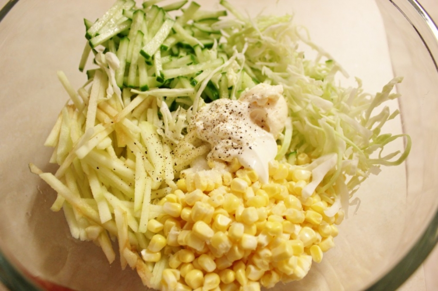 Капустный салат диетический - фото шаг 5