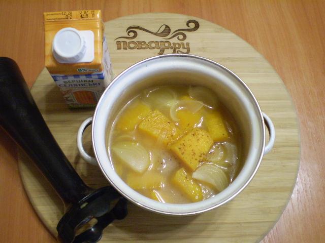 Суп-пюре из тыквы со сливками - фото шаг 7