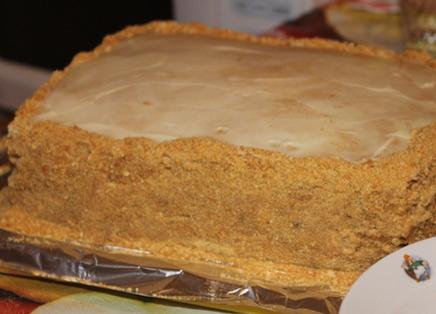 """Торт """"Рыжик"""" классический рецепт - фото шаг 8"""