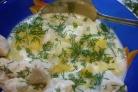 Картофель под молочным соусом