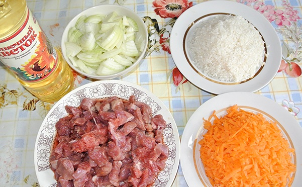 Рецепт Рассыпчатый плов из свинины
