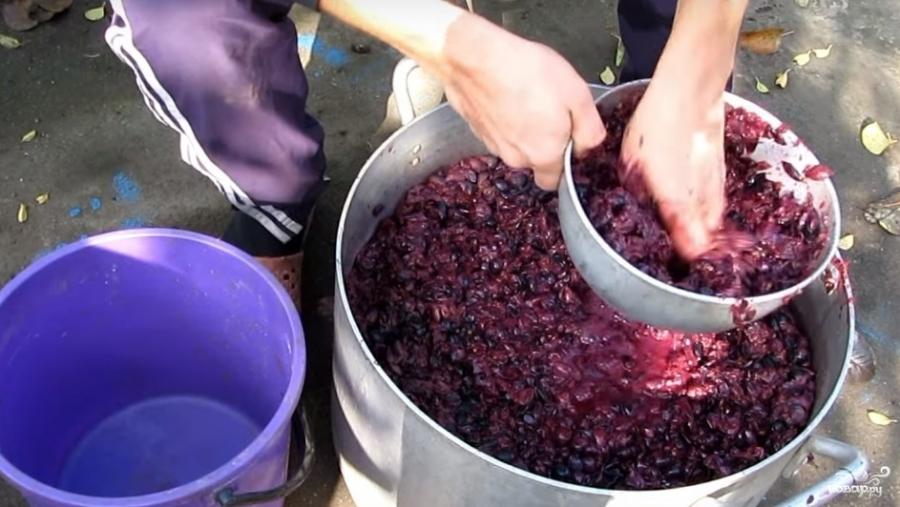 видеорецепт брага из винограда