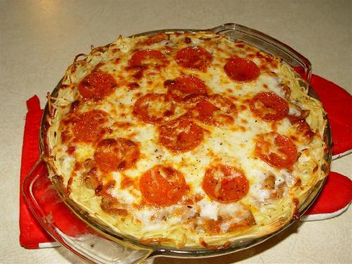 Пирог Спагетти  - фото шаг 6