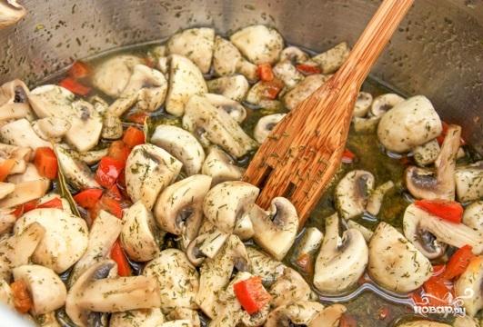 Вкусная закуска из грибов и перца - фото шаг 3