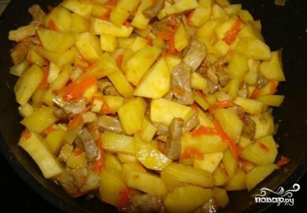 пошаговый рецепт солянки с картошкой в сковородке на второе