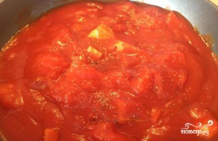 Томатный крем-суп с моцареллой - фото шаг 7