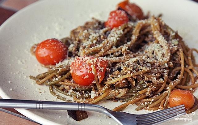 Спагетти с черри, баклажанами и пророщенной фасолью - фото шаг 5