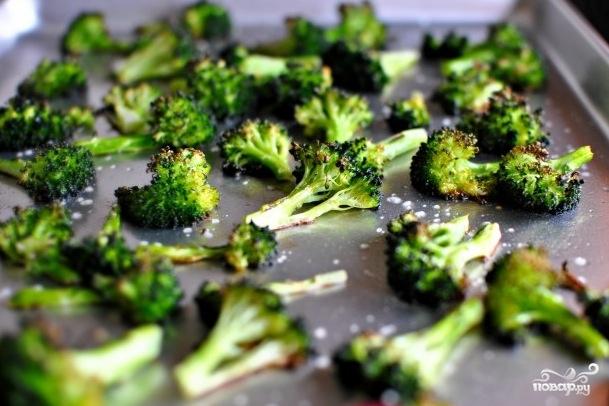 Брокколи запеченная в духовке - фото шаг 3