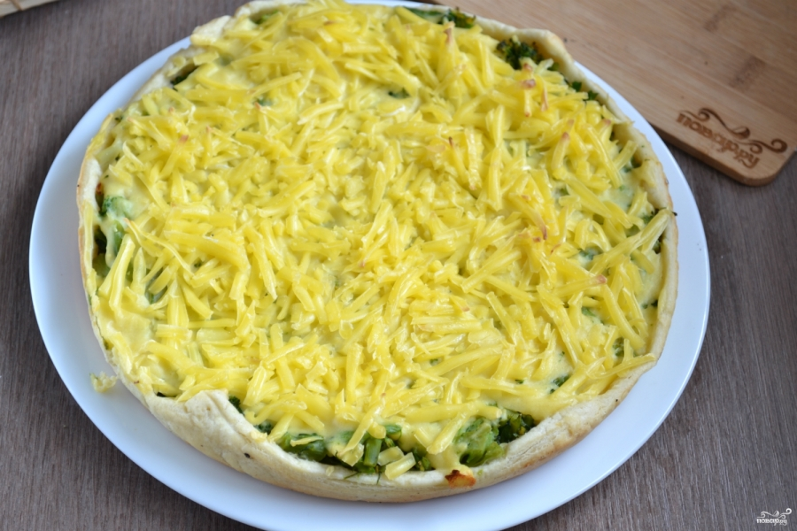 Пирог с брокколи и сыром - фото шаг 8