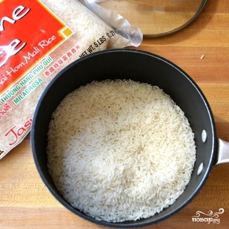Рецепт Салат с рисом и креветками