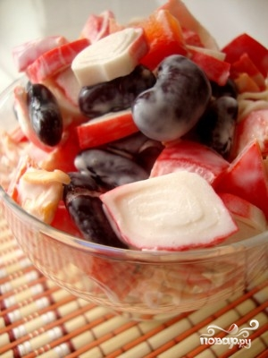 Фасолевый салат - фото шаг 4