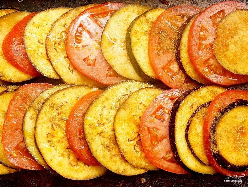 Рецепт Баклажаны жареные с помидорами
