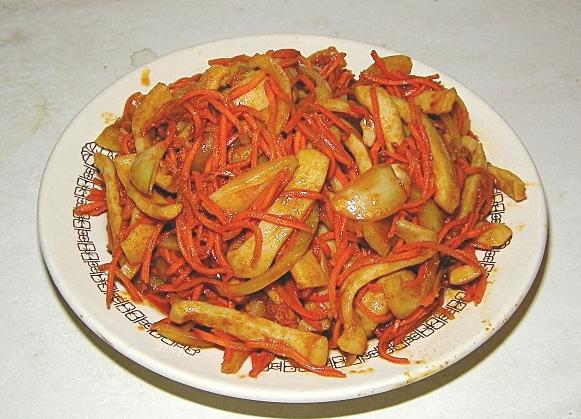 Хе из моркови и кальмаров - фото шаг 8