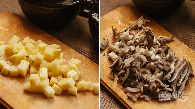 Cуп с чечевицей и грибами - фото шаг 4