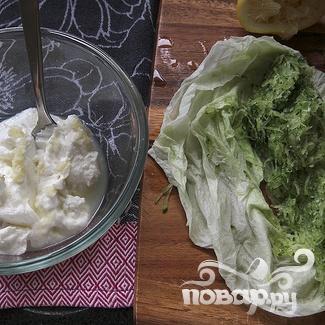 Гирос с картофелем и сыром Фета - фото шаг 1
