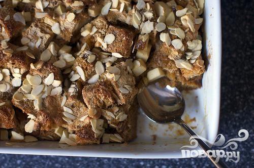 Яблочный пудинг с хлебом