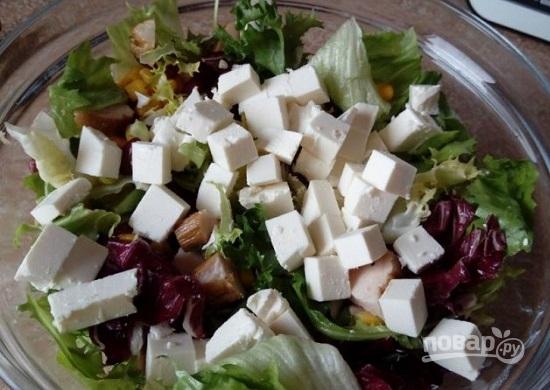 Салат с фасолью и солеными огурцами  пошаговый рецепт с